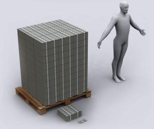 объем одного миллиона долларов