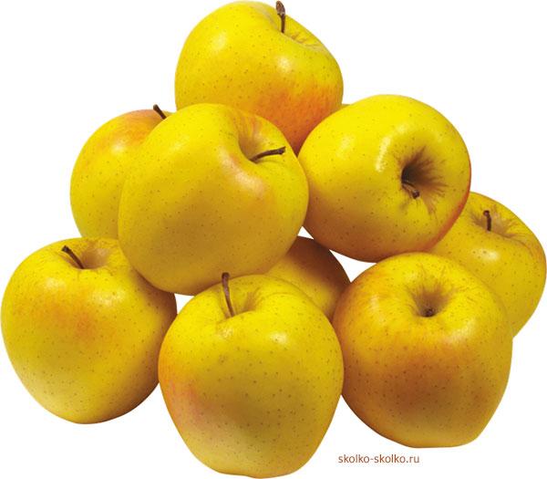 Калорийность желтых яблок