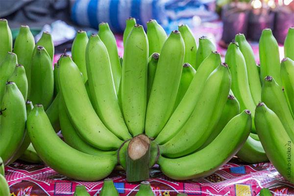 Калорийность зеленых бананов