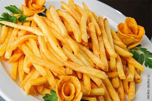 Сколько калорий в картошке фри